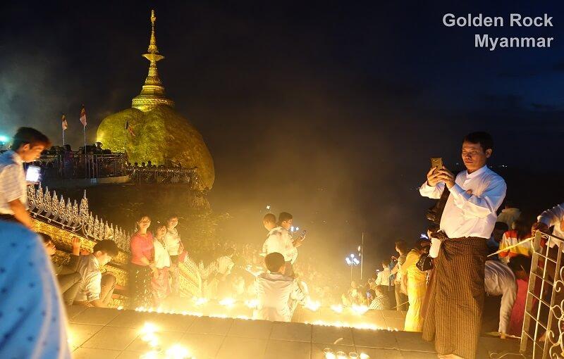 Myanmar Goldener Felsen Kyaikhtiyo